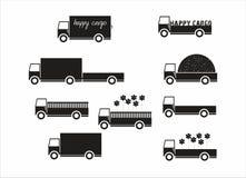 Ciężarowy wektoru set Obrazy Stock