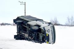 Ciężarowy wypadek obrazy stock
