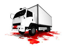 Ciężarowy wypadek ilustracja wektor