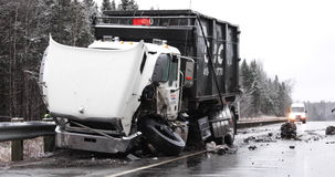 Ciężarowy wypadek zdjęcie wideo