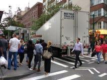 Ciężarowy wypadek, Manhattan, NYC, NY, usa zdjęcia royalty free