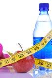 Ciężaru straty dietting pojęcie z taśmy miarą Zdjęcie Royalty Free