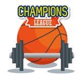 Ciężaru udźwig z koszykówka sporta sprawnością fizyczną ilustracji
