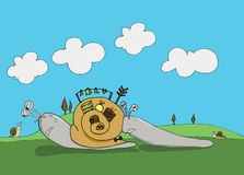 Ciężcy ślimaczki Fotografia Royalty Free