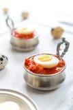Ciężcy gotowani przepiórek jajka Fotografia Royalty Free