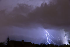 Ciężka burza. Fotografia Stock