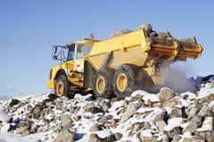 Ciężka ciężarówka w szorstkim terenie Obrazy Royalty Free