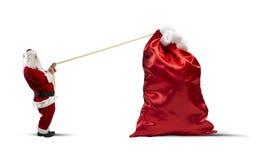 Ciężka torba prezenty Zdjęcia Royalty Free