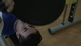 Ciężki ćwiczenie z ciężaru dyskiem zbiory wideo