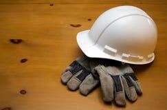 ciężki budowa kapelusz zdjęcia stock