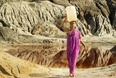 Ciężki ciężar kobiety zdjęcie royalty free