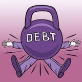 Ciężki dług. Fotografia Stock