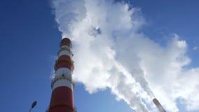 Ciężki dym od kominów zbiory