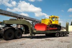 Ciężki gąsienicowy buldożer Zdjęcie Stock