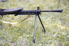 Ciężki maszynowy pistolet Zdjęcia Stock