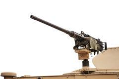 Ciężki maszynowy pistolet opuszczać - odosobniony Obrazy Royalty Free