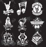 Ciężki Metal odznak wektoru rockowy set Zdjęcia Royalty Free