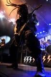 Ciężki metal, rockowy koncert żywy zdjęcie royalty free