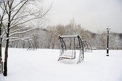 ciężki Moscow parka śnieg Obraz Stock