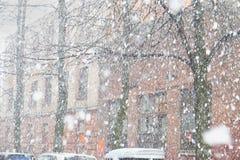Ciężki opad śniegu Obrazy Royalty Free