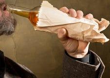 Ciężki pijący obrazy stock