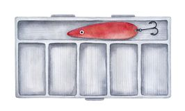 Ciężki połowu sprzętu pudełko dla połów dostaw i wyposażenia ilustracji