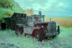 Ciężki rolny wyposażenie w polu w infrared Obrazy Royalty Free