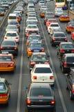 ciężki ruch drogowy Fotografia Stock