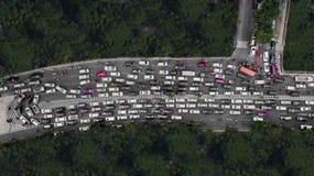 Ciężki ruch drogowy przy szczytową godziną Zdjęcie Royalty Free