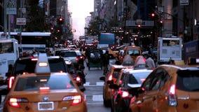 Ciężki ruch drogowy w nowym York Zdjęcia Royalty Free