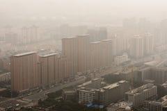 Ciężki smog w Pekin obraz stock
