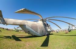 Ciężki wojskowy odtransportowywa helikopter Mi-26  Obrazy Stock