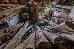 ciężki zawalony drewniany sufit obrazy royalty free