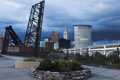 Ciężkie chmury nad Cleveland obraz royalty free