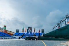 Ciężkie chmury nad placem czerwonym Zdjęcia Royalty Free