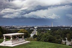 Ciężkie chmury nad Waszyngton fotografia royalty free