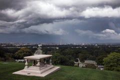 Ciężkie chmury nad Waszyngton obraz stock