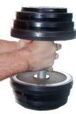 ciężkie dumbbell ręki Zdjęcie Royalty Free