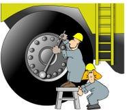 ciężkie wyposażenie pracowników ilustracja wektor