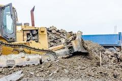 Ciężkiej budowy maszyna w akci Zdjęcie Stock