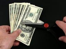 cięcia kosztów dolarów nożyczki, Zdjęcia Stock