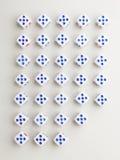 Cięcia pięć krzyża wzór Zdjęcie Stock