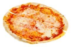Cięcie cienka włoska pizza Margherita Zdjęcia Royalty Free