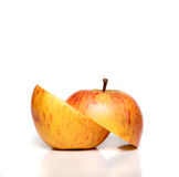 cięcie jabłka fotografia stock