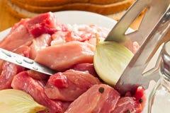 Cięcie kawałki świeży mięso Zdjęcie Royalty Free