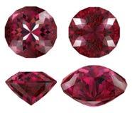cięcie odizolowywający biżuteryjny rubin Fotografia Royalty Free