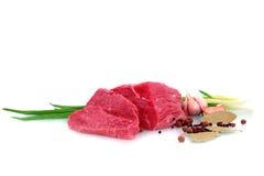 Cięcie wołowina stek fotografia stock