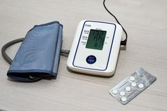 Ciśnienie Krwi Tonometer obrazy royalty free