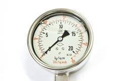 Ciśnieniowego wymiernika wskaźnik. Zdjęcia Royalty Free