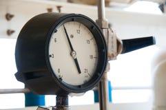 Ciśnieniowy wymiernik dla pomiarowego naciska w systemu, Ropa i gaz proces używał ciśnieniowego wymiernika monitorować ciśnieniow Obrazy Stock
